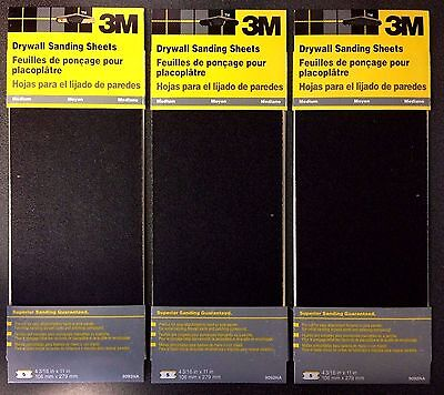 3m 9092 Med Drywall Sanding Sheet Sandpaper 4-316 X 11 3 Packs Of 5 Sheets