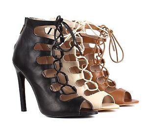 lace up back zipper open toe dress high heel sandals