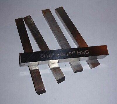 """2 Pc HSS Mini Metal Lathe Cut-Off Blades M2 Tool Steel 1//16/"""" x 1//2/"""" x 4-1//2/"""" New"""