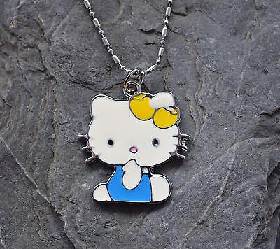 Kinderkette Hello Kitty Anhänger mit Kette Geburtstags Geschenk Katze Neu