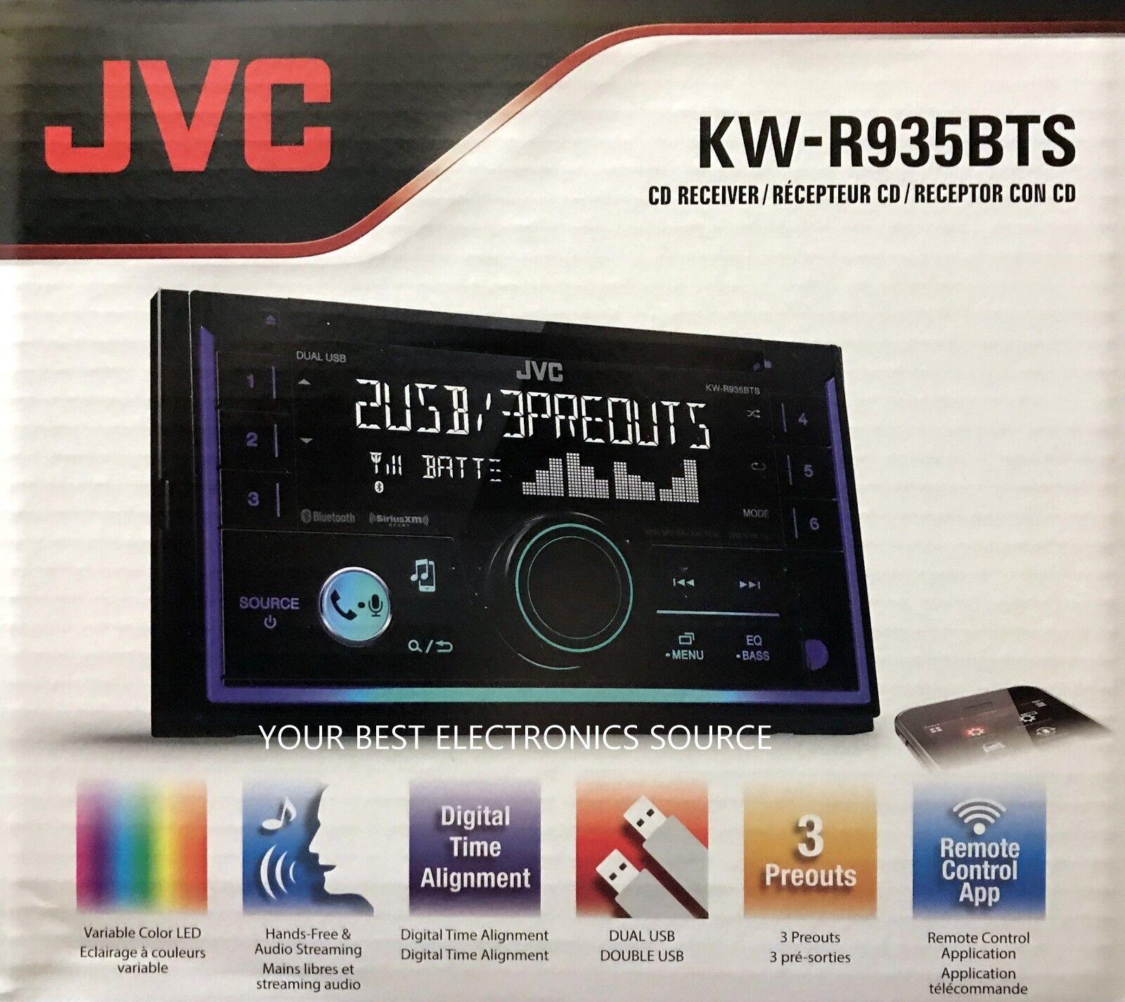 NEW JVC KW-R935BTS Double DIN Bluetooth In-Dash CD/AM/FM Car