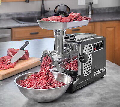 Commercial Large Electric Meat Grinder Stainless Steel Heavy Duty 3 Speed 2000w