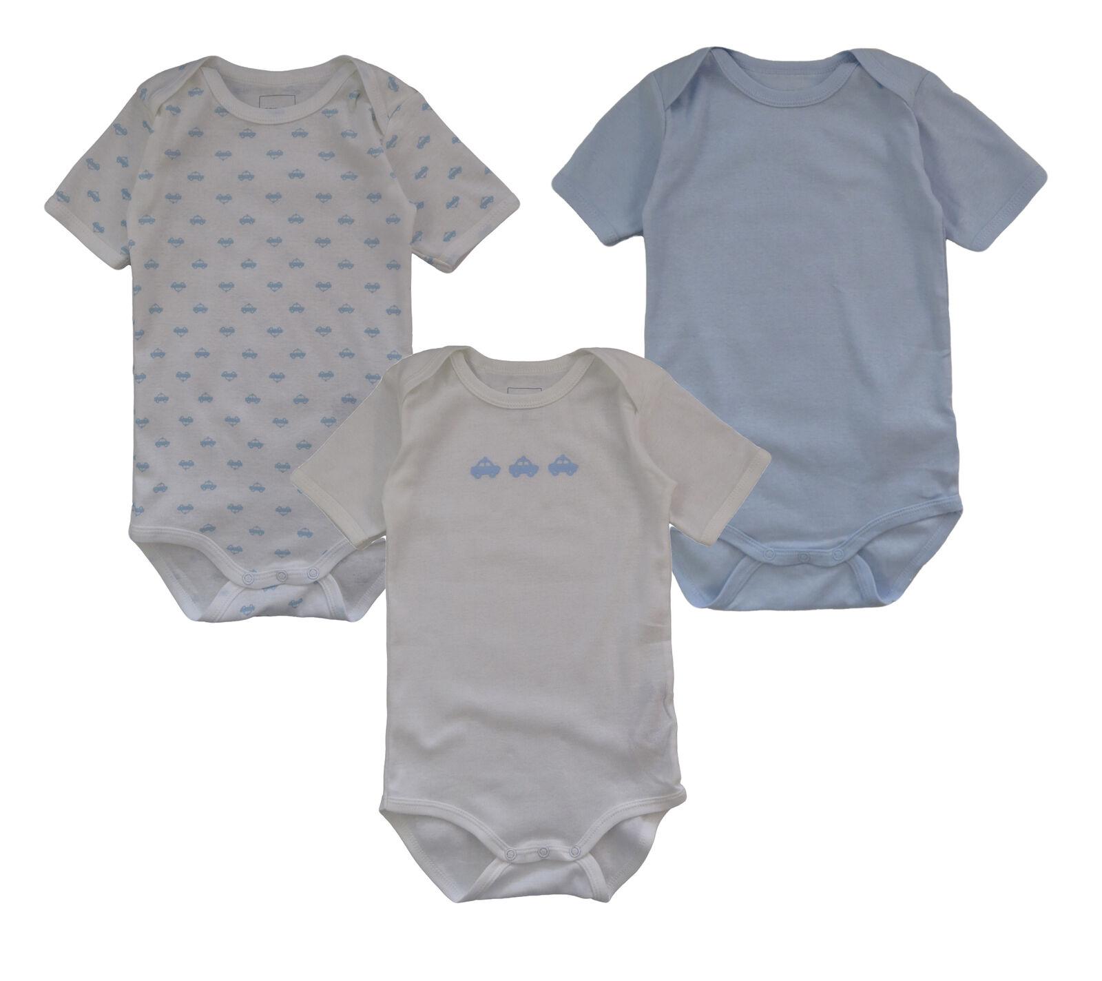 Name It 3er SET BODY Baby Kinder Jungen Bodys Einteiler kurzarm Unterwäsche