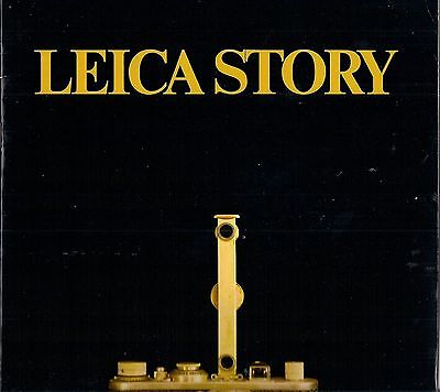 LEICA STORY - BOOK OF THE HISTORIC DEVELOPMENT OF THE LEICA CAMERA WITH PICTURES