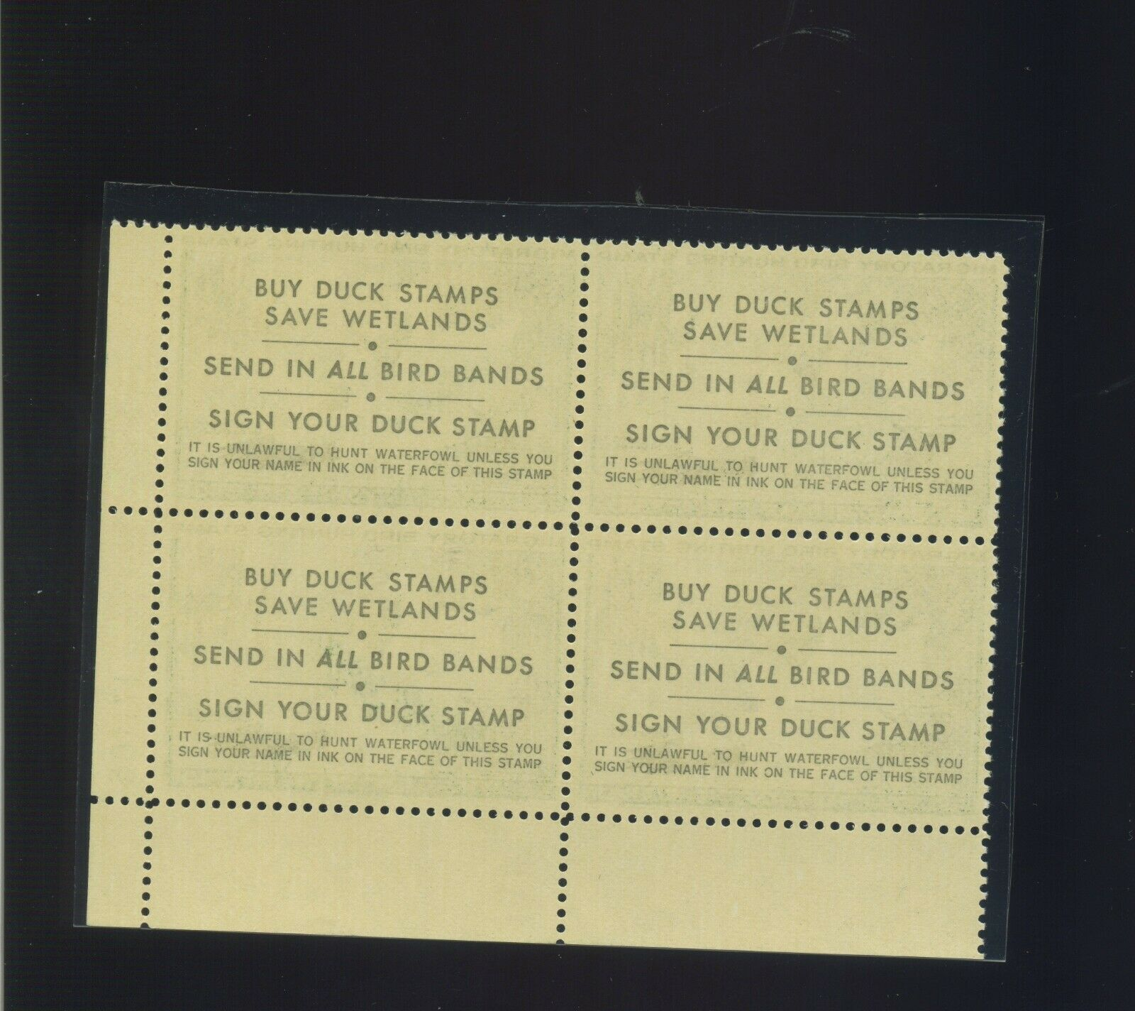 Scott RW37 Federal Duck Mint Plate Blockof 4 Stamps NH Stock RW37-pb8  - $199.99
