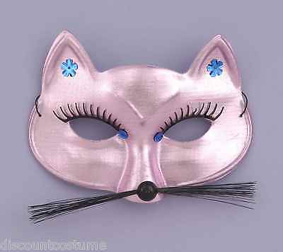 PINK PANTHER CAT 1/2 EYE MASK FACE MASK HALLOWEEN COSTUME MASQUERADE ACCESSORY  - Halloween Pink Panther Costume