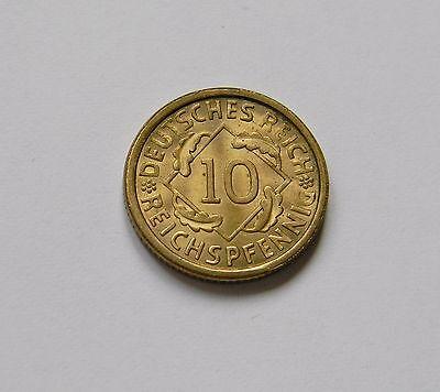 WEIMAR: 10 Reichspfennig 1926 A, J. 317, fast stempelglanz !!!