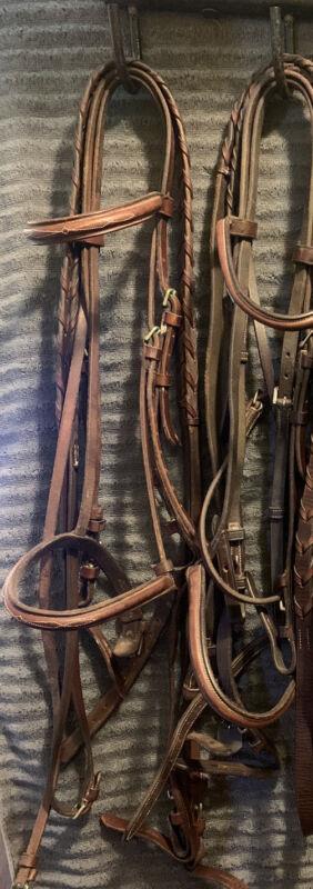 Jaguar Harry Dabbs Horse Bridle Fancy Stitched vintage pessoa A/O