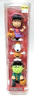 Charlie Brown Lucy Halloween Costumes (NEW PEANUTS Halloween 3 Piece Figure Set Lucy, Snoopy & Charlie Brown In)