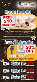 (1)Massage $10 Off Voucher (2)Stone SPA Facebook Check-In 50% off