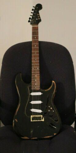 Custom Reliced Black Strat  (7-Way Stratocaster) Gilmour Mod