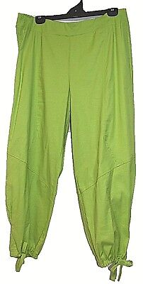 TS pants TAKING SHAPE plus sz S -M / 18 Radient Linen 7/8 apple green NWT rp$140
