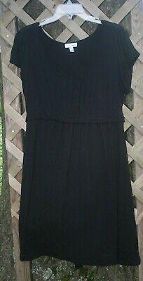 Black knit Dress sz XL Fashion Bug basic dress tie back A19