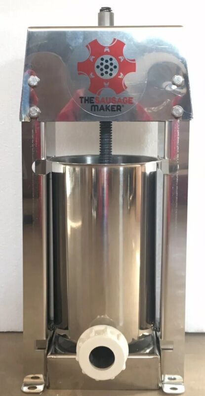 The Sausage Maker Stainless Sausage Stuffer 5 Pounds NEW OPEN BOX $$SAVE