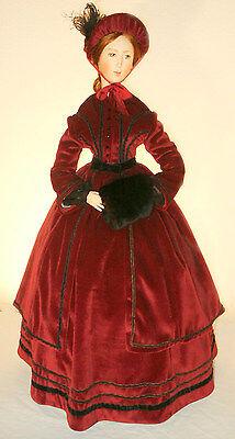 "27"" inch Doll 1850 Victorian Winter DressCoat Sewing Pattern #""21-27"