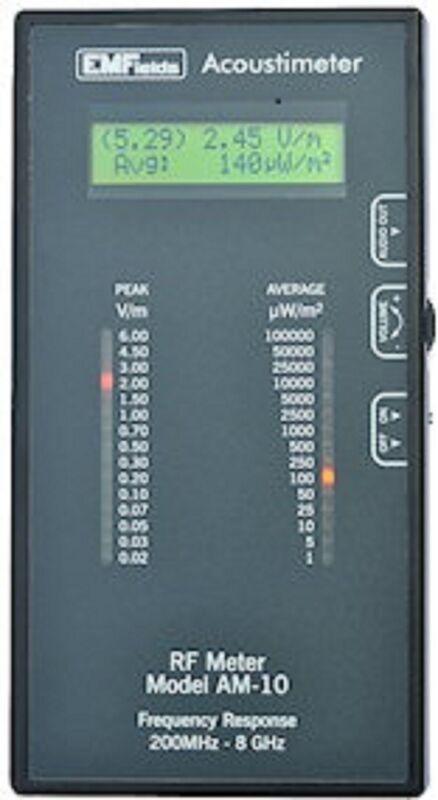 RF meter Acoustimeter measures phones, towers, WiFi, FREE 3-DAY SHIPPING IN US