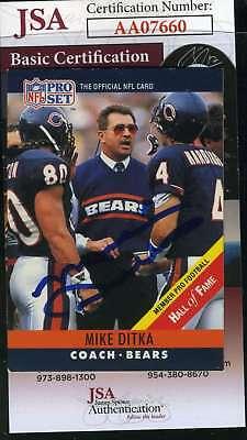 - MIKE DITKA 1990 Pro Set JSA Coa Autograph Authentic Hand Signed