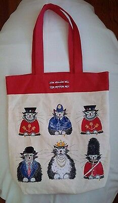 Reversible Cotton Shopper/Tote Bag - British Flag & Best of Breed Royal Cats