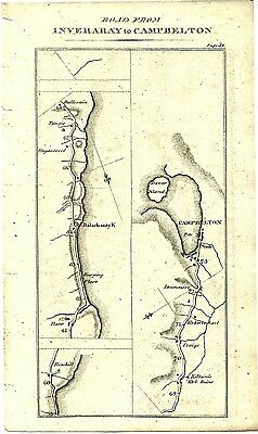 Antique map, Inveraray to Tarbet & Campbelton (3)