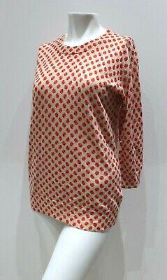 J Crew Orchard Print Tippi Merino Wool Sweater womens size small blouse 72759 S