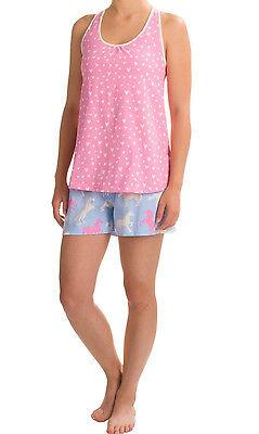 Little Blue House by Hatley Shorts Sleeveless Shirt Pajamas Set Hearts