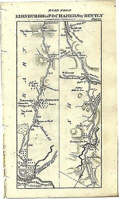 Antique map, Perth to Fochabers (1)