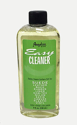 Angelus Easy Cleaner for Leather, Suede, Rubber, Linen, Canvas, Vinyl 8 oz