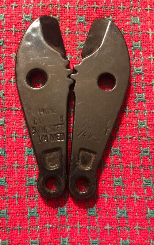 BOLT CUTTER REPLACEMENT JAWS, #14 Replacement Plier Cutter Head, No. 14 NOS