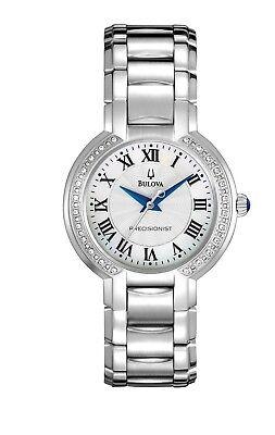 Bulova Precisionist Women's 96R167 Fairlawn Diamond Accents Bracelet 32mm Watch
