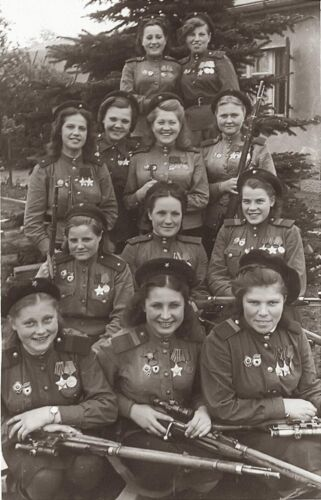 WW2 WWII Photo Soviet Female Snipers Group Photo  World War Two Russia / 1843