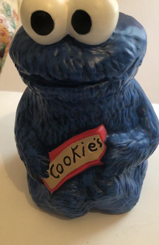 Vintage Cookie Monster Cookie Jar Sesame Street Muppets Inc.