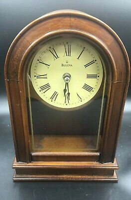 Bulova Hardwick Clock, Walnut Missing Pendulum