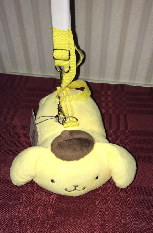 Sanrio POMPOM PURIN Plush Purse Crossbody New