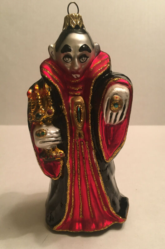 Count Dracula Vampire Polish Glass Halloween Tree Ornament Large 7 in Decoration