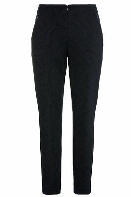ULLA POPKEN Jerseyhose Mandy Paisley-Design Komfortbund selection dunkelblau NEU Paisley Designer