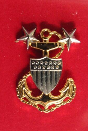 USCG COAST GUARD REDUCED SIZE MCPO MASTER CHIEF PETTY OFFICER GARRISON CAP BADGE