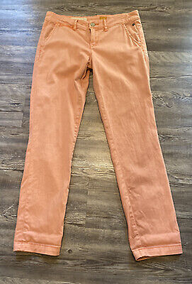 Pilcro and the Letterpress Anthropologie Salmon/Pink Hyphen Jeans No 26