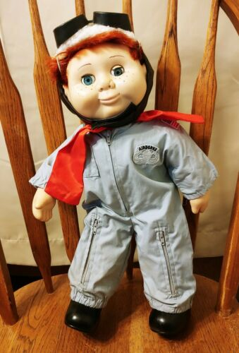 Vintage Wannabe Doll Boy Red Hair w/ Airborne Air force Suit & Goggles - Rare!