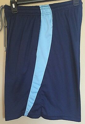 •Lacrosse Unlimited• Flyby Navy & Light Blue Lacrosse Athletic Shorts  Adult XS
