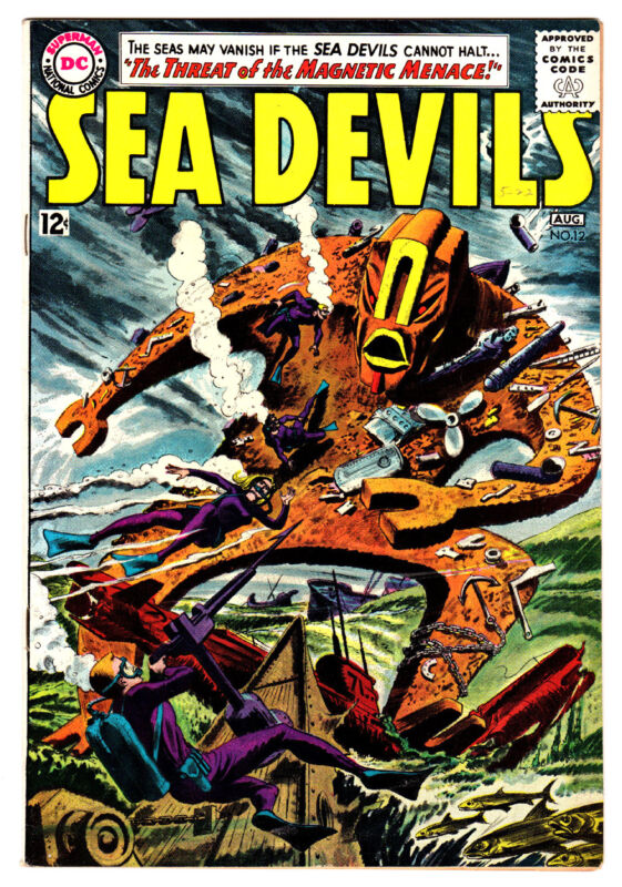 SEA DEVILS #12 8.5 OFF-WHITE PAGES SILVER AGE