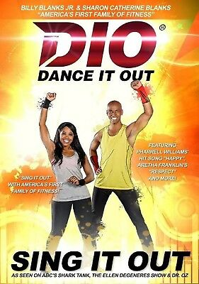 Billy Blanks JR DIO Dance It Out SING IT OUT (DVD) shark tank ellen dr oz NEW