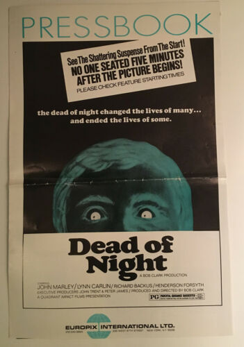 DEAD OF NIGHT Pressbook 1974 Bob Clark RARE John Marley Horror Film UNCUT