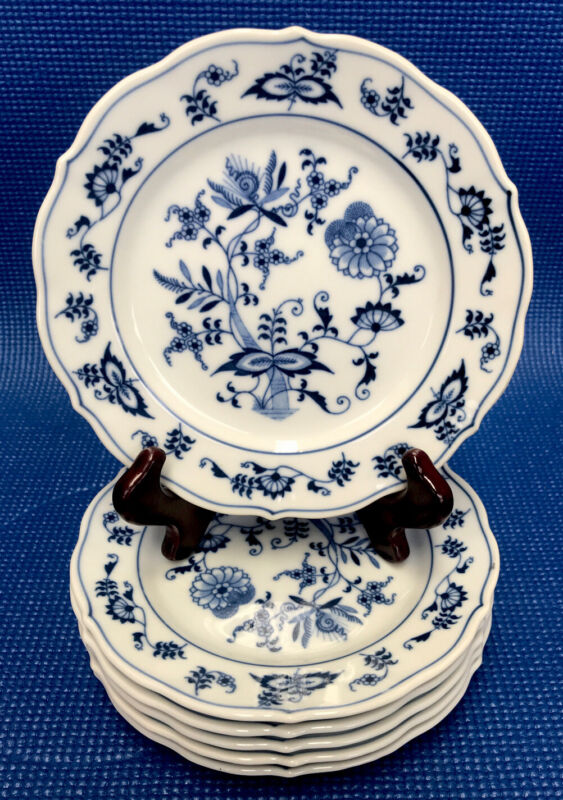 """Set Of 6 BLUE DANUBE 7"""" PLATES, Made In Japan"""