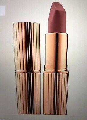 CHARLOTTE TILBURY Matte Revolution Lipstick Very Victoria Nude Taupe FULL SZ NEW