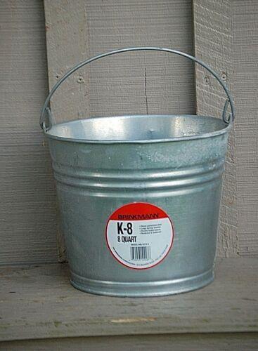 NEW Brinkmann 8 Qt. Galvanized Bucket Steampunk Art Water Lawn Garden Flower Pot