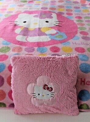 Hello Kitty Fleece Bed Throw Blanket and Cushion