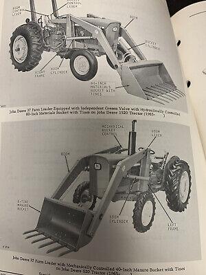 John Deere 37 Farm Loader Bucket Parts Catalog Manual