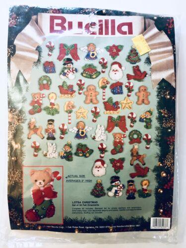 1 Bucilla Unopened Sequined Felt Christmas Ornament Kit Lots