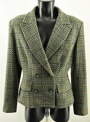 Ivan Grundahl Women`s Woolen Jacket Collared Long Sleeve Lined Coat Size 40