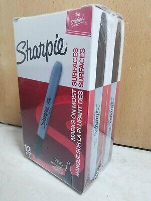 2 Boxes Sharpie 30001 Fine Point Permanent Markers Pen 24 Count Black